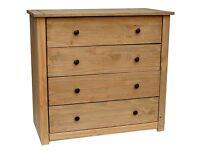 *** Vida Designs Panama Solid Pine 4-Drawer Chest (RRP £149.99) ***
