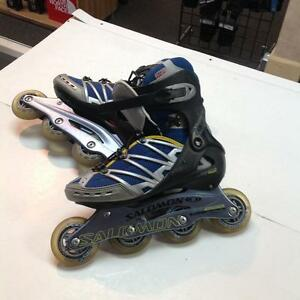 Salomon Roller Blades -u size 6.5- blue/grey (sku: Z14884)