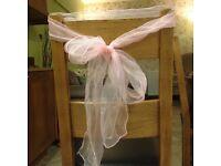 Taffeta ties for wedding chairs