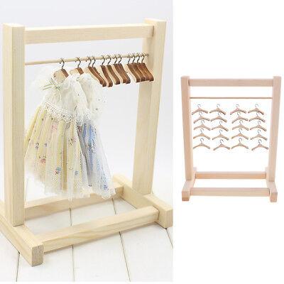 12 Zoll Puppenmöbel hölzerne Kleidung, die Regal für Blythe Puppenhaus (Puppenhaus Für 12-zoll-puppen)