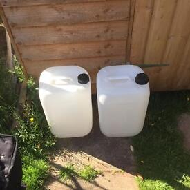 Water containers 25 litre