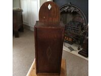 GEORGIAN OAK/ELM CANDLE BOX CIRCA 1820's...