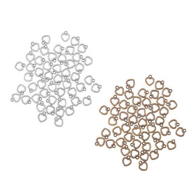 100 stücke Mini Herz Lose Perlen Ohrring Baumeln DIY Schmuckzubehör ()
