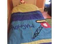 Single bed without mattress