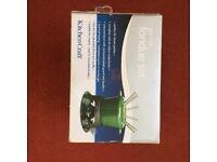 Cast iron fondue set - green