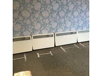 4 X WALL MOUNTED ELECTRIC HEATERS