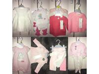 Selection Of Brand New Baby Girl outfits