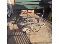 2 wheeled garden trolley