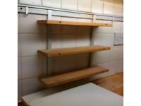 long kitchen under cabinet utensil rail with hooks and herbs shelves