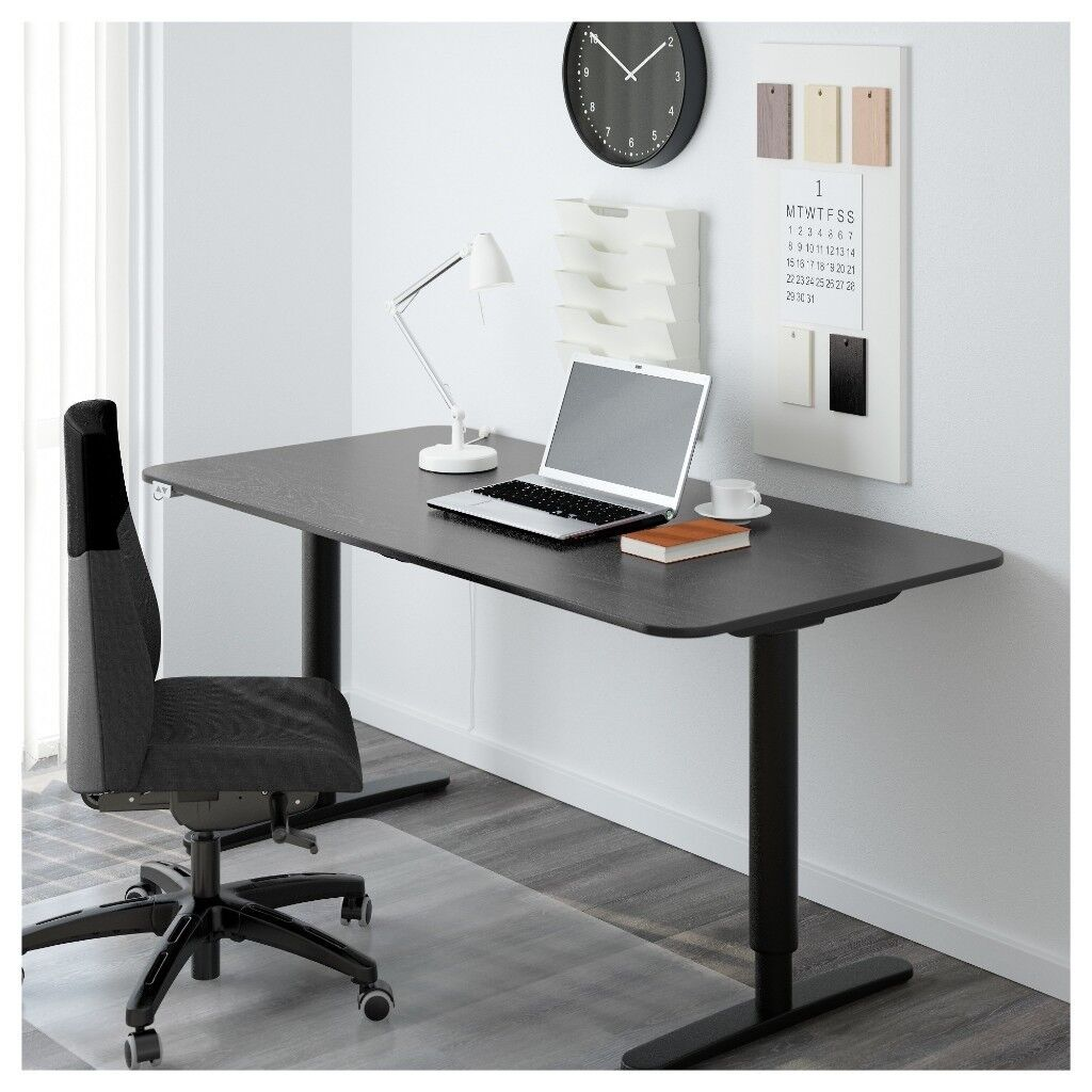 Ordinaire IKEA BEKANT Electric Desk Height Adjustable Sit/stand Black 10 Year  Guarantee