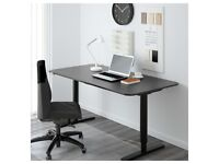 IKEA BEKANT Electric Desk height adjustable sit/stand Black 10 year guarantee