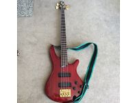 Ibanez bass guitar. Good condition, new strings and battery.