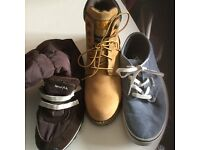 3 pairs Cat boots, Vans - £40 for three pairs - size 6