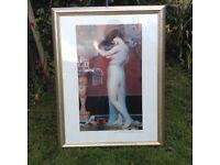 Framed print Large - John William Godward, 'After The Bath'