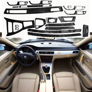 5D Interior Glossy Carbon Fiber Wrap Trim Vinyl For BMW 3 Series E90  2005 2012