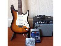Fender Squier guitar pack - lots of stuff