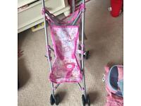 Baby Born doll, pushchair and accessories