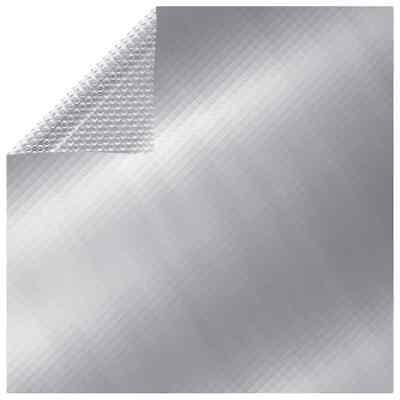vidaXL Cubierta de Piscina PE Plateado 260x160 cm Solor Tapa Toldo Desmontable