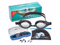 BLUEMER GLIDE anti fog lens & UV protection Swimming goggles with swim cap, cap wallet & accessories