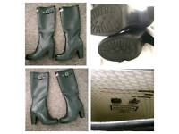 Hunter rubber high heel wellies welly boots size 5