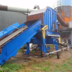 Custom made heavy duty straw bale shredder