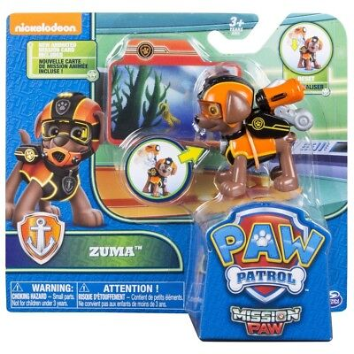 Paw Patrol Mission Patte Pack Action Pup Zuma Figurine Enfants Collection Jouet