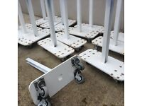 Steel fence posts on wheels (wheels can be taken off) 16 in total