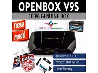 ★WI FI AND MOVIES CLUB ★GENUINE OPENBOX V 9 S DIgItAl FrEeSaT PVR HDTV SAT RECEIVER ★