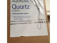 AQUALISA Quartz Digital Exposed Shower system,still sealed.NEW