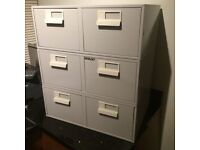 Bisley Office Index Card Cabinets x 3 for 8x5 cards