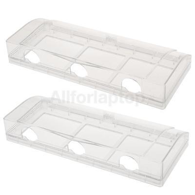 Wasserdichte Steckdose / Schalter Schutz Gehäuse Fall mit 3 Löcher - Klar - Wasser-steckdose Gehäuse