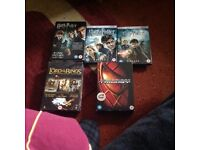 Complete Set of Harry Potter Movies Box Set,,Box set Lord of the Rings,,Box Set of Spider-Man.