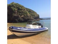Avon 620 Adventure RIB with Yamaha 150hp 4-Stroke and roller trailer