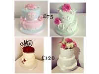 Wedding cakes from £45