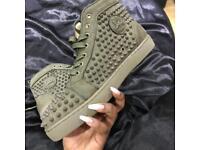 Christian Louboutin Spike Sneakers (Khaki)
