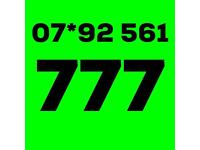 Gold rare mobile number 777 (Three PAYG SIM card)