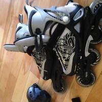 Barely used roller bladed