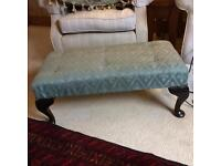 Oyster blue footstool