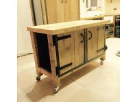 Freestanding kitchen island industrial style