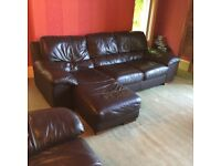 One x largeSofa, one x medium sofa and arm chair - comfy and hard wearing, great condition