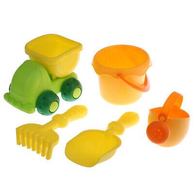 5 stücke Kinder Strand Sand Spielzeug Gartenwerkzeug Kit Eimer Kipper (Garten-werkzeug-kit)