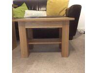 Side table solid American oak