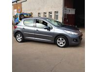 59 plate peugeot 207 1.4 sport 5dr 47300miles silver £2995
