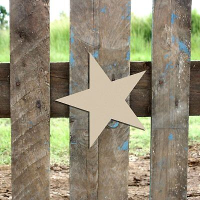 Wood Star Shape, Unfinished Shape, Wood Cutout, Wooden Paintable - Star Cutout