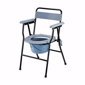 Folding Commode Chair Toilet Seat Adult Potty with Bucket / TOILET SEAT with strong stainless steel frame