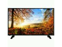 "Techwood 43AO4USB 43"" Freeview HD and Freeview Play Smart 4K Ultra HD TV - Black not samsung"