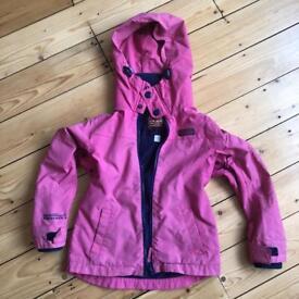 NEXT pink fleece lined jacket 5-6