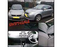 Suzuki Swift4SALE! Grey 2005, 5 DR! TINTED WINDOWS, ONLY 63K! RADIO/CD! LADY OWNER, £2250 ONO!
