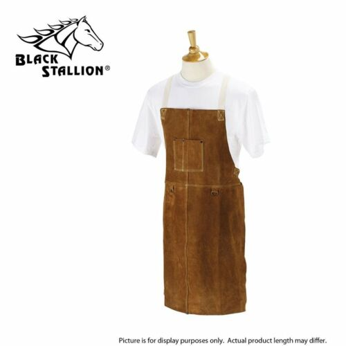 Revco Black Stallion 36A Leather Side Split Cowhide Welding Bib Apron 36""