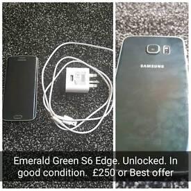 Samsung S6 Edge Emerald Green UNLOCKED
